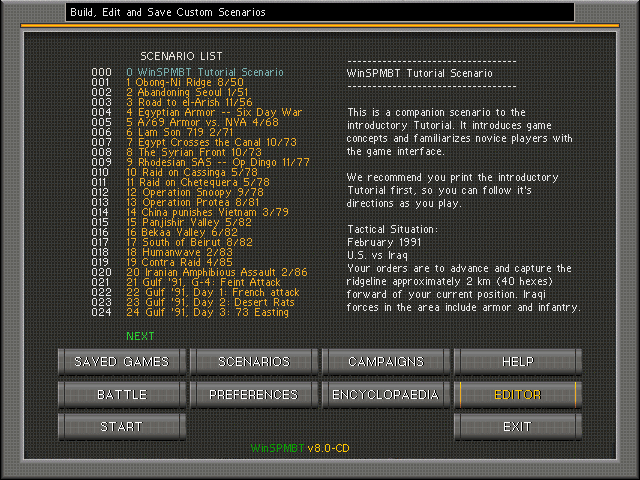 scenario list